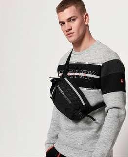 Superdry bum bag / sports sling bag in black