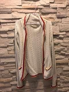 日本製英倫學院風開襟及臀外套