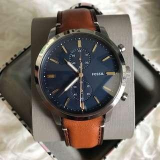 🚚 [CHEAPEST PRICE] Fossil FS5279 Townsman Chronograph Luggage Leather Men's Watch