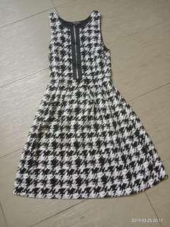 Zalora Fashion Black and White Printed Dress