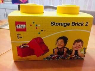 LEGO Storage Brick 2 (yellow color)