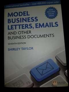 Model business letters and emails by Shirley Taylor