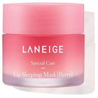 🚚 BNIB Laneige Special Care Lip Sleeping Mask (BERRY) 20g