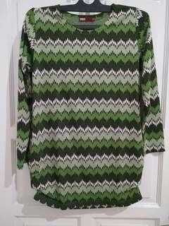 Atasan sweater hijau green