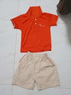 🚚 My First Skool Uniform (Shirt Size 24, Shorts size M)