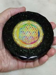 Orgonite Charge Plate - 95mm Dia x 25mm High