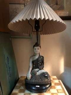Thai Buddha Lamp with Lamp Shade Bedside Lamp