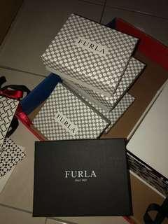 Furla paperbag and gift boxes