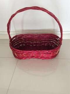 Basket - for hamper Red colour