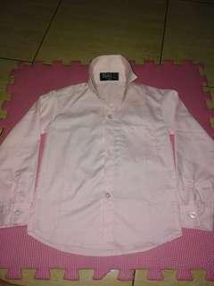 Pink Polo Longsleeve for Kids