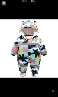 Army Print Autumn/Winter Jumpsuits for baby boy