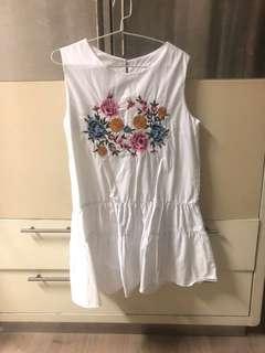 Flower white dress