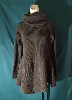 🚚 灰色長袖 針織毛衣 高領毛衣