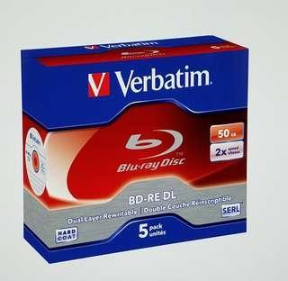 藍光碟 藍光燒碟 空白藍光碟 50G 可反複燒錄verbatim sd卡 資料儲存