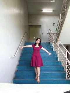BRANDED RED DRESS