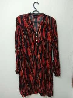 Prelived tunic redblack