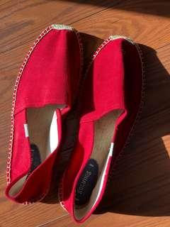Soludos Red Espadrille Size 12
