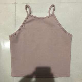 🚚 temt pink halter top