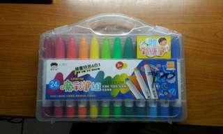 24色大魔彩筆組  人體彩繪筆 臘筆,油畫,水彩,臉部彩繪