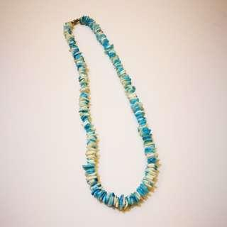 PRE💙D White and Blue Dyed Puka Chip Clam Shell Necklace