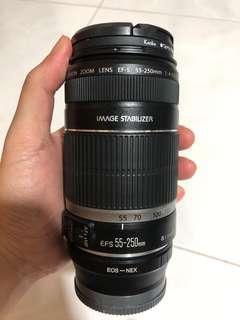 🚚 Canon EFS 55-250mm lens