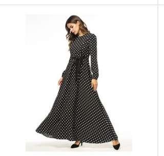 Black Long Abaya Dress