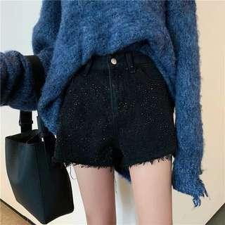 🔥 BRAND NEW $12 Black denim high waist shorts