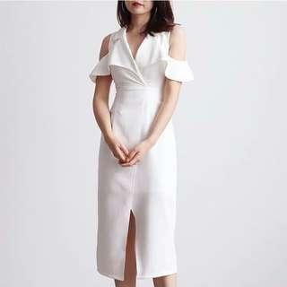 🔥 BRAND NEW $25 Tuxedo white dress BNIP