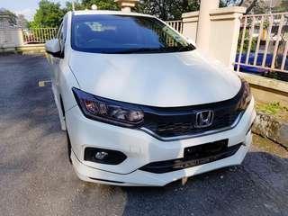 Facelifted Honda City V Spec