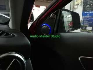 Mercedes GLA 3D rotary tweeter with ambient light