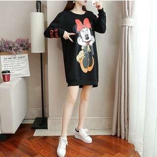 Mickey long sleeve pullover dress