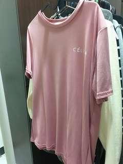 🚚 涼感舒服材質粉色T