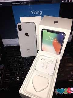 iPhone X 64 GB Silver Like New Bekas Garansi International