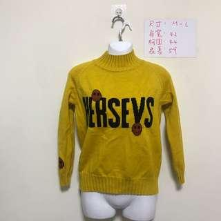 🚚 NEW 針織黃色上衣