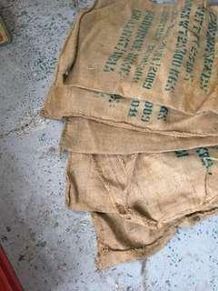 咖啡豆麻布袋六個
