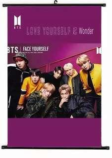 🚚 Exclusive : BTS group scroll poster (wall hanging)