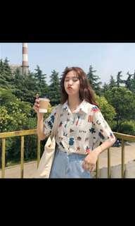 🚚 [PO] Korean uzzlang harajuku oversized collar t-shirt