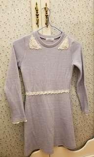 粉藍連身裙韓裝