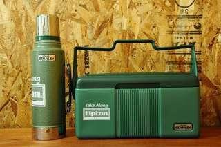 Stanley Lipton special ver. 旅行保温水瓶飯盒 Aladdin Stanley Thermos Cooler Lunchbox Vintage ver.