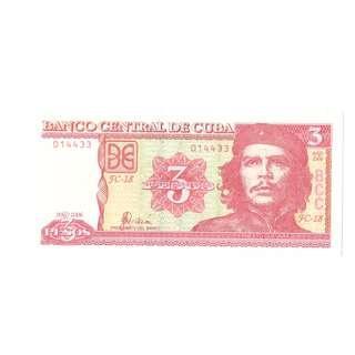 2006 Cuban Commemorative Che Guevara Three Peso Banknote