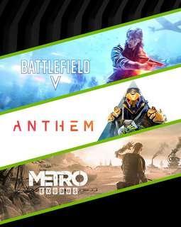 Metro Exodus + Anthem + Battlefield V Game Code [ PC ]