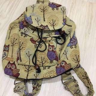 🚚 Owl Prints Backpack/bag pack