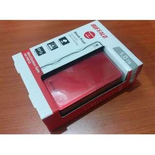 Buffalo Ministation 1 TB Hard Drive (Red)