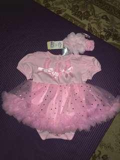 tutu rompers gown with headband