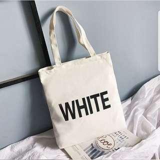 Canvas Bag ( White )
