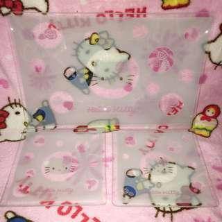 Hello Kitty Soda Glass Plate (set of 3pcs)
