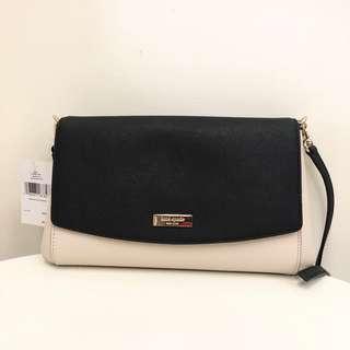 全新正品Kate Spade美國購回, 雙色手拿包斜背包