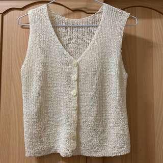 🚚 小資女孩👧針織米白色背心#半價衣服市集