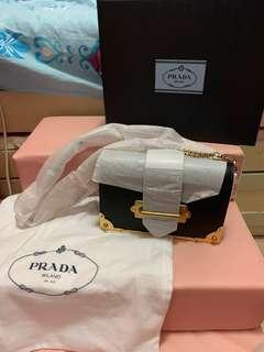 Prada Cahier mini bag (black)