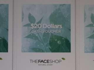 🚚 The Face Shop $20 Cash Voucher (valid till 30 April 2019)